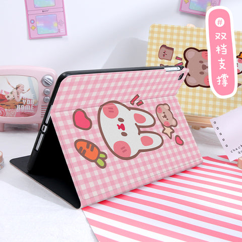 Cartoon Rabbit and Bear Ipad Protect Case PN3193