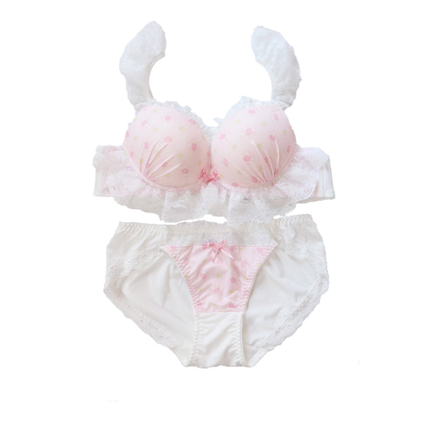 Pink Strawberry Underwear Suits PN2565
