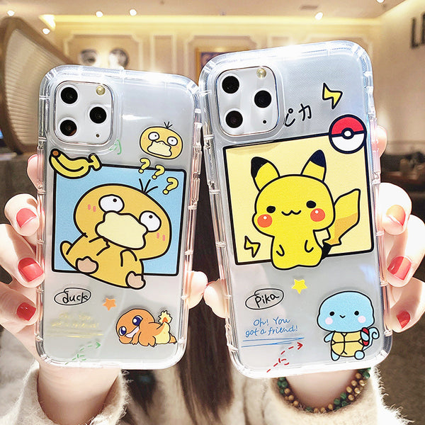 Cute Pokemon Phone Case for iphone 7/7plus/8/8P/X/XS/XR/XS Max/11/11pro/11pro max PN2132