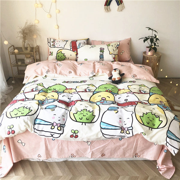 Cartoon Sumikkogurashi Bed sheet,Quiltcover,Pillowcover PN2292