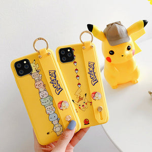Lovely Pokemon Wrist Strap Bracket Phone Case for iphone XS/XR/XS Max/11/11pro/11pro max PN1810