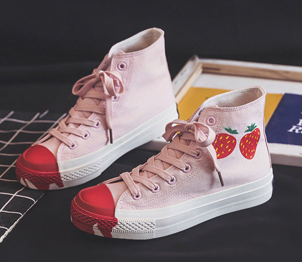 Fashion Strawberry Canvas Shoes PN2672