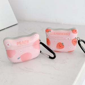Peach and Strawberry Airpods Case For Iphone PN3098