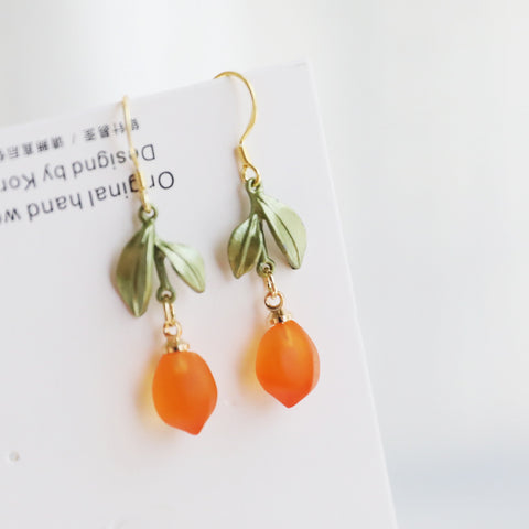 Cute Orange Earrings/Clips PN3802