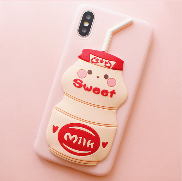 Sweet Milk Phone Case for iphone 6/6s/6plus/7/7plus/8/8P/X/XS/XR/XS Max PN1574