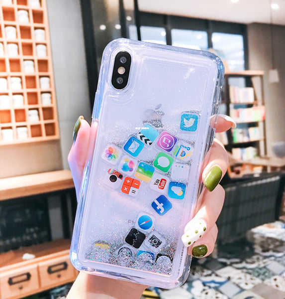 Fashion Quicksand Phone Case for iphone 6/6s/6plus/7/7plus/8/8P/X/XS/XR/XS Max PN2457