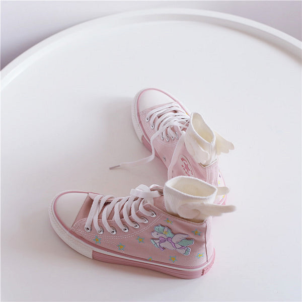 Fashion Unicorn Canvas Shoes And Socks PN2040