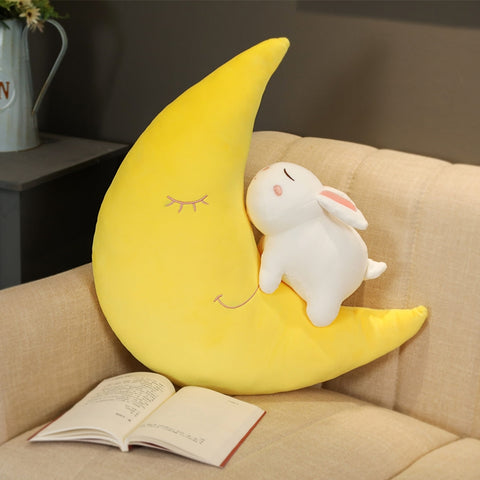 Lovely Rabbit Moon Hold Pillow PN2954
