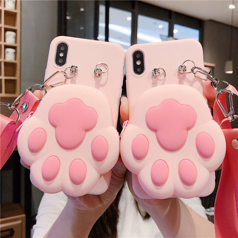 Cat Paw Phone Case for iphone 6/6s/6plus/7/7plus/8/8P/X/XS/XR/XS Max/11/11pro/11pro max PN3359