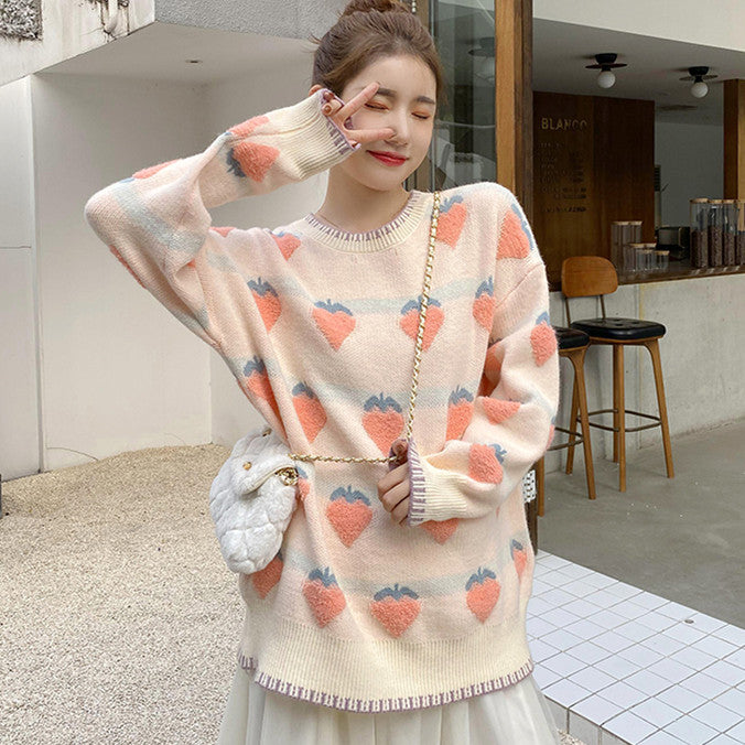 Fashion Strawberry Sweater PN3526