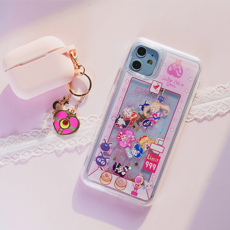Sailormoon Quicksand Phone Case for iphone 6/6s/6plus/7/7plus/8/8P/X/XS/XR/XS Max/11/11pro/11pro max PN2190