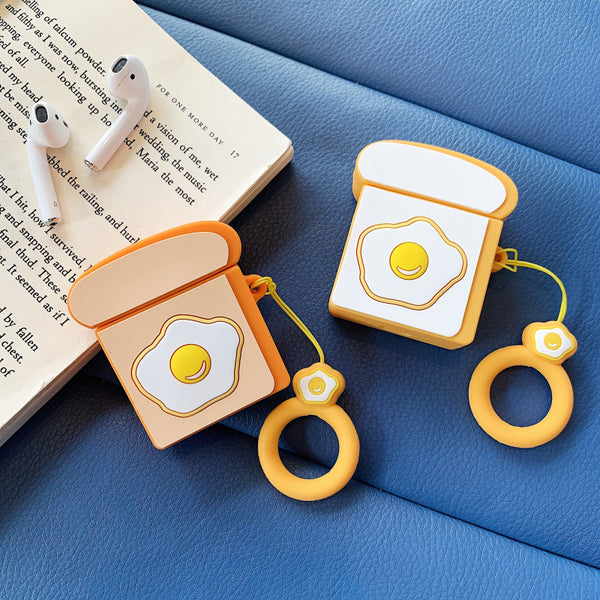 Cute Poached Egg Airpods Case For Iphone PN1413