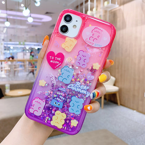 Lovely Bear Phone Case for iphone 7/7plus/8/8P/X/XS/XR/XS Max/11/11pro/11pro max PN3176