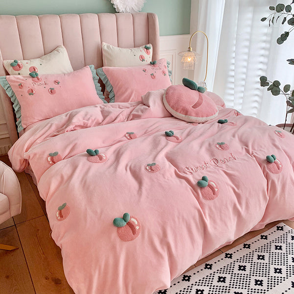 Sweet Peach Bedding Set PN3528