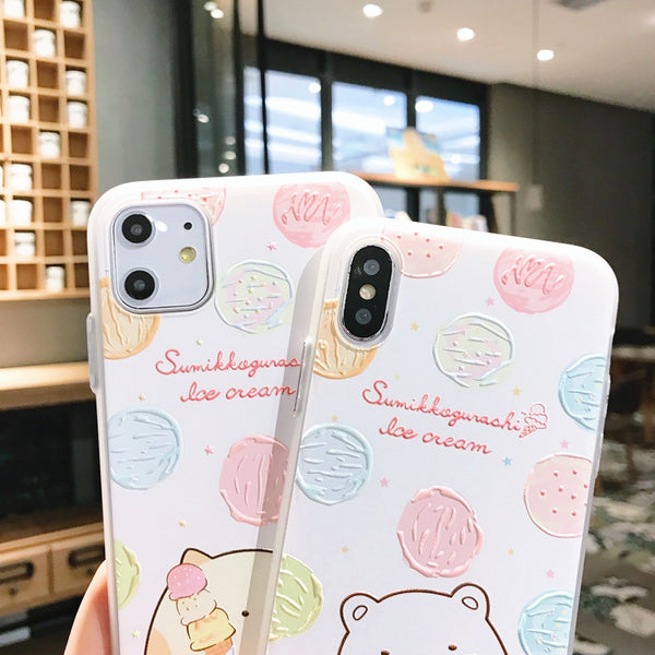 Sumikkogurashi Phone Case for iphone 7/7plus/8/8P/X/XS/XR/XS Max/11/11pro/11pro max PN2234