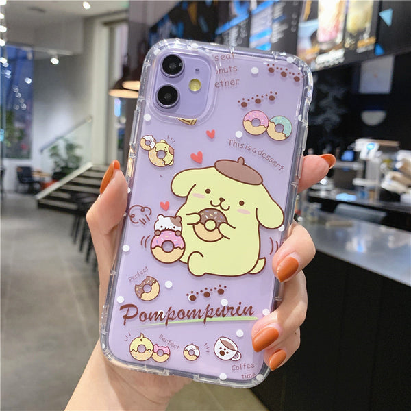 Cute Cinnamoroll Phone Case for iphone 7/7plus/8/8P/X/XS/XR/XS Max/11/11pro/11pro max PN2322