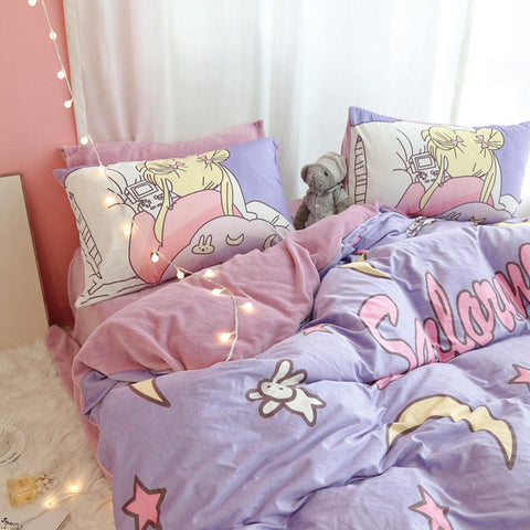 Cartoon Sailormoon Bedding Set PN3262