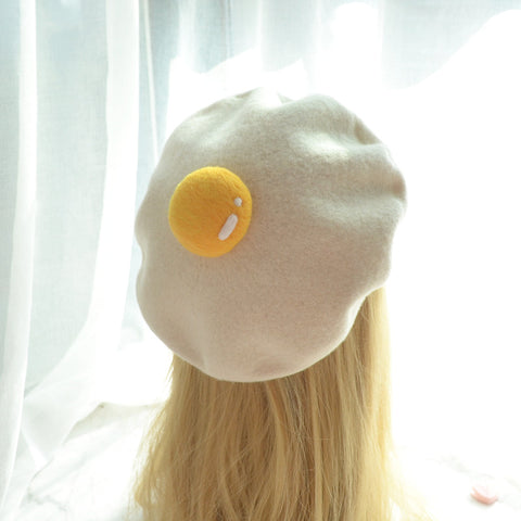 Lovely Poached Egg Beret PN2101