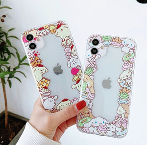 Cartoon Anime Phone Case for iphone 7/7plus/8/8P/X/XS/XR/XS Max/11/11pro/11pro max/12/12mini/12pro/12pro max PN3441