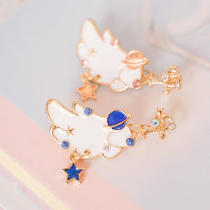 Lovely Moon Wings Brooches Pin PN1732