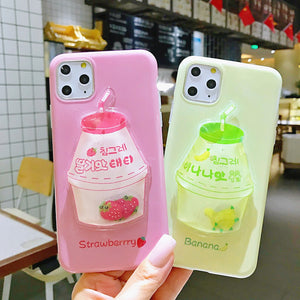 Cute Milk Bottle Phone Case for iphone 6/6s/6plus/6splus/7/7plus/8/8plus/X/XS/XS Max/11/11pro/11pro Max PN1872