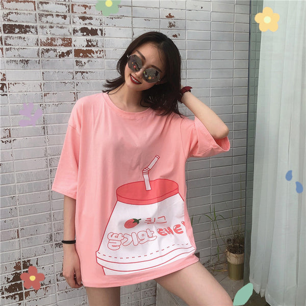 Fashion Loose Milk Tshirt PN1420