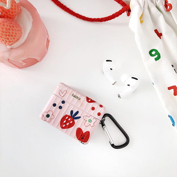 Cute Strawberry Airpods Case For Iphone PN2519