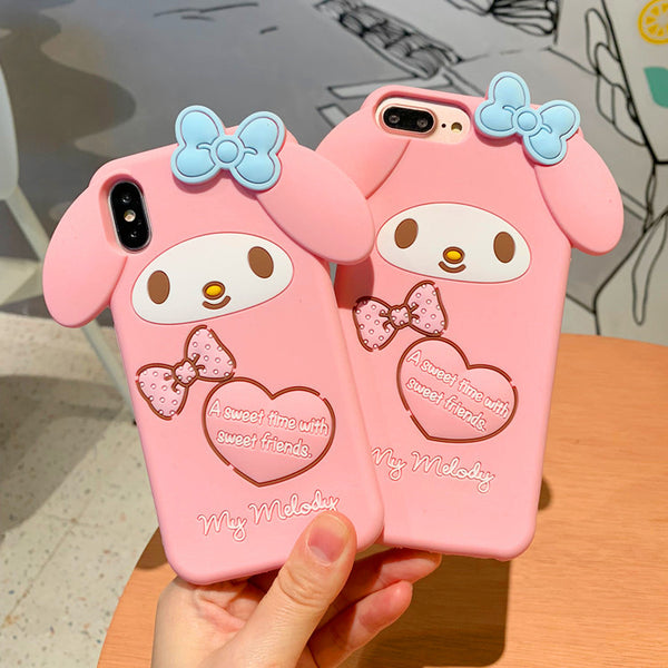 Mymelody And Cinnamoroll Phone Case for iphone 6/6s/6plus/7/7plus/8/8P/X/XS/XR/XS Max PN0688