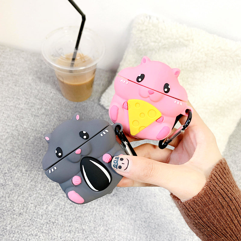 Cute Hamster Airpods Case For Iphone PN2061