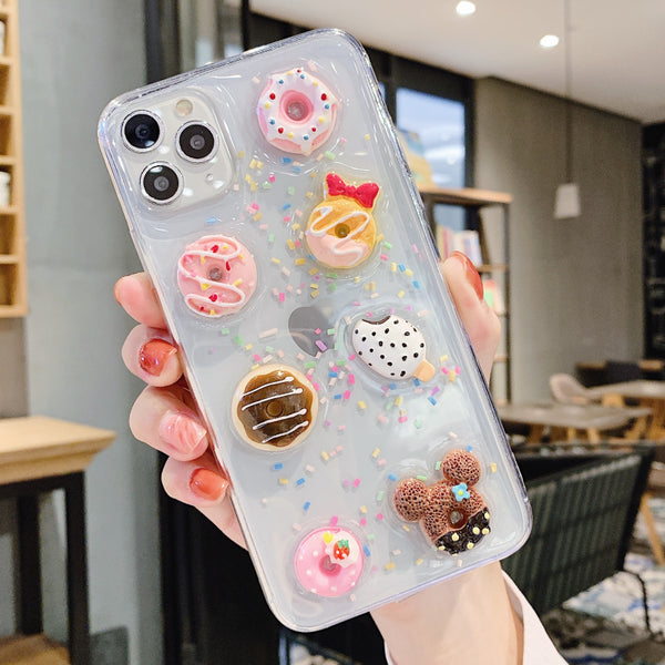 Sweet Doughnut Phone Case for iphone 6/6s/6p/6splus/7/7plus/8/8plus/X/XS/XS Max/11/11pro/11pro Max PN2114