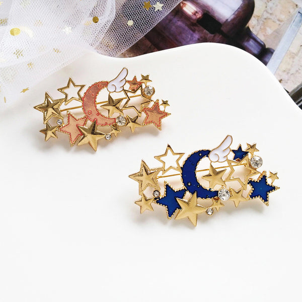 Kawaii Stars and Moon Brooches Pin PN1219