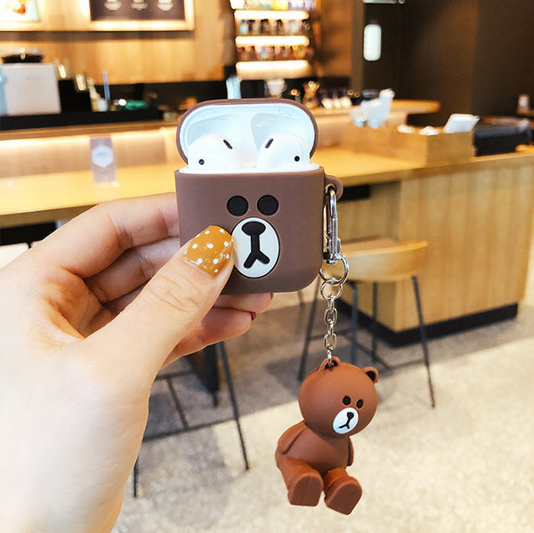 Brown and Cony Airpods Case For Iphone PN1407