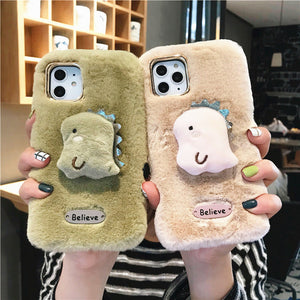Lovely Dinosaur Phone Case for iphone 7/7plus/8/8P/X/XS/XR/XS Max/11/11pro/11pro max PN2158