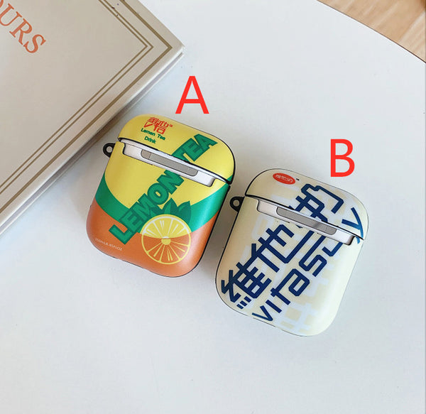 Kawaii Lemon tea and Vitasoy Airpods Case For Iphone PN1662
