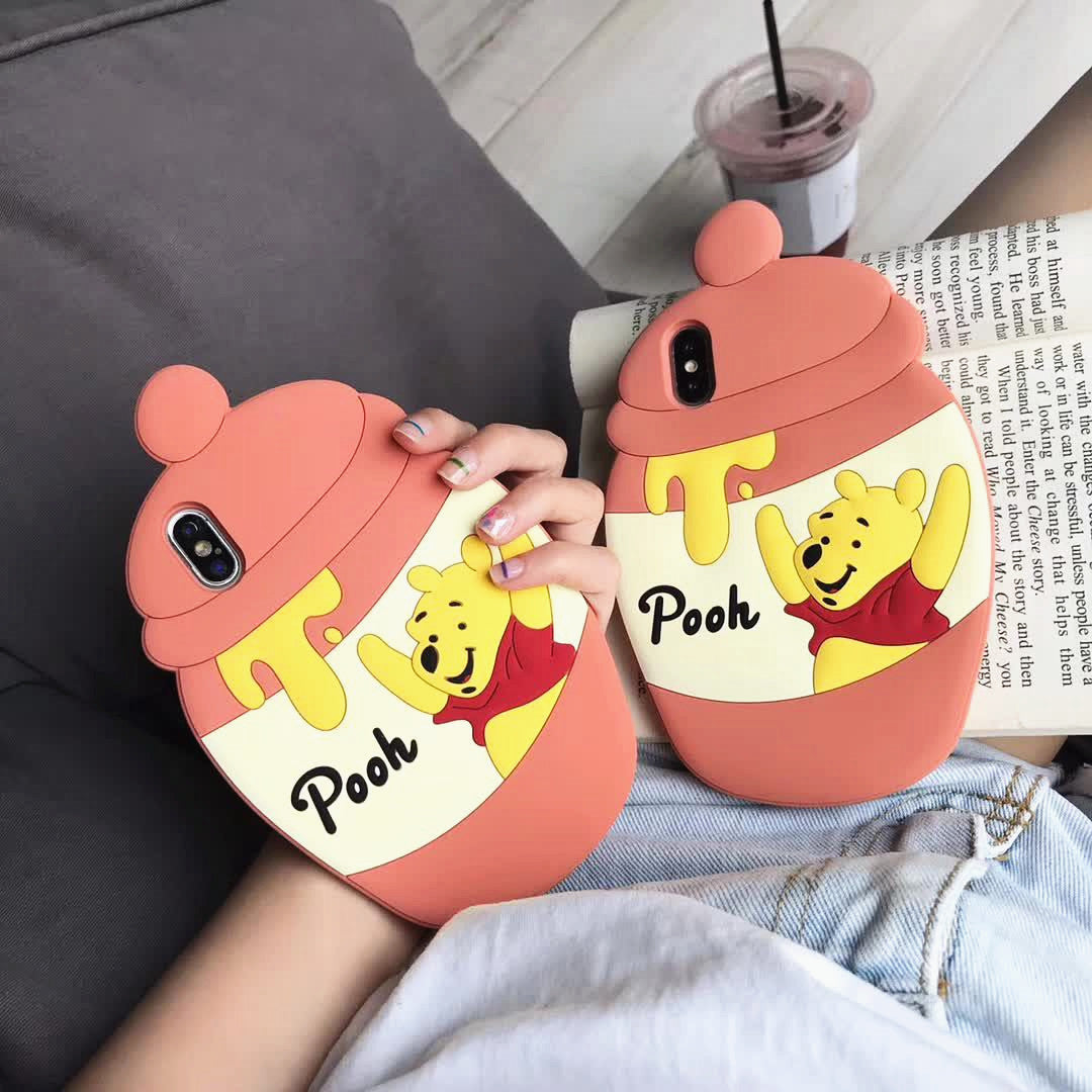 Kawaii Pooh Phone Case for iphone 6/6s/6plus/7/7plus/8/8P/X/XS/XR/XS Max/11/11pro/11pro max PN1633