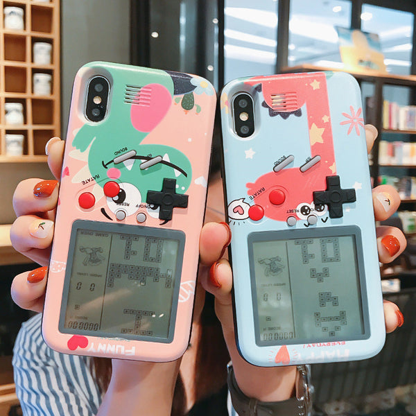 Lovely Dinosaur Gameconsole Phone Case for iphone 6/6s/6plus/7/7plus/8/8P/X/XS/XR/XS Max/11/11pro/11pro max PN2391