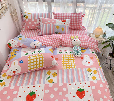 Strawberry Rabbits Bedding Set PN2837