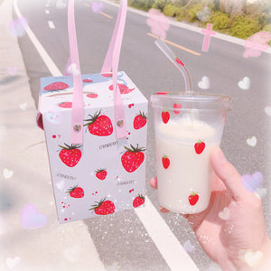Transparent Strawberry Water Cups PN1132