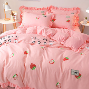 Cute Strawberry Bedding Set PN2779