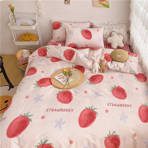 Kawaii Strawberry Bedding Set PN2955