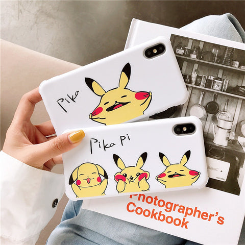 Lovely Pikachu Phone Case for iphone 6/6s/6plus/7/7plus/8/8P/X/XS/XR/XS Max/11/11pro/11pro max PN1787
