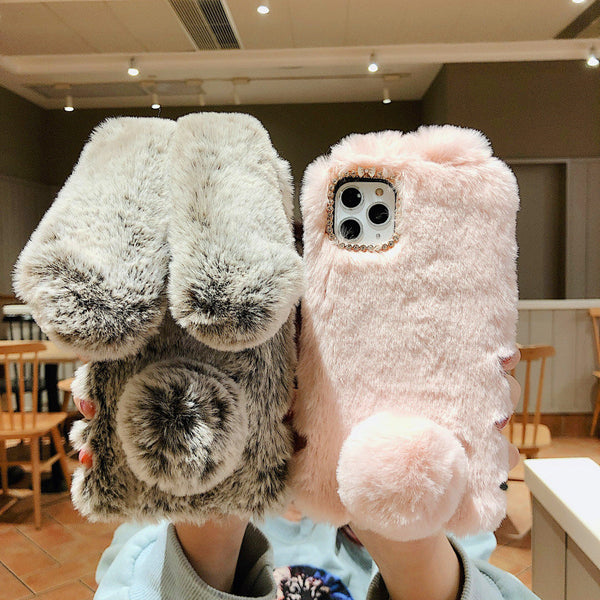 Lovely Rabbit Ears Phone Case for iPhone 6/6s/6splus/7/7plus/8/8P/X/XS/XR/XS Max/11/11pro/11pro max PN2173