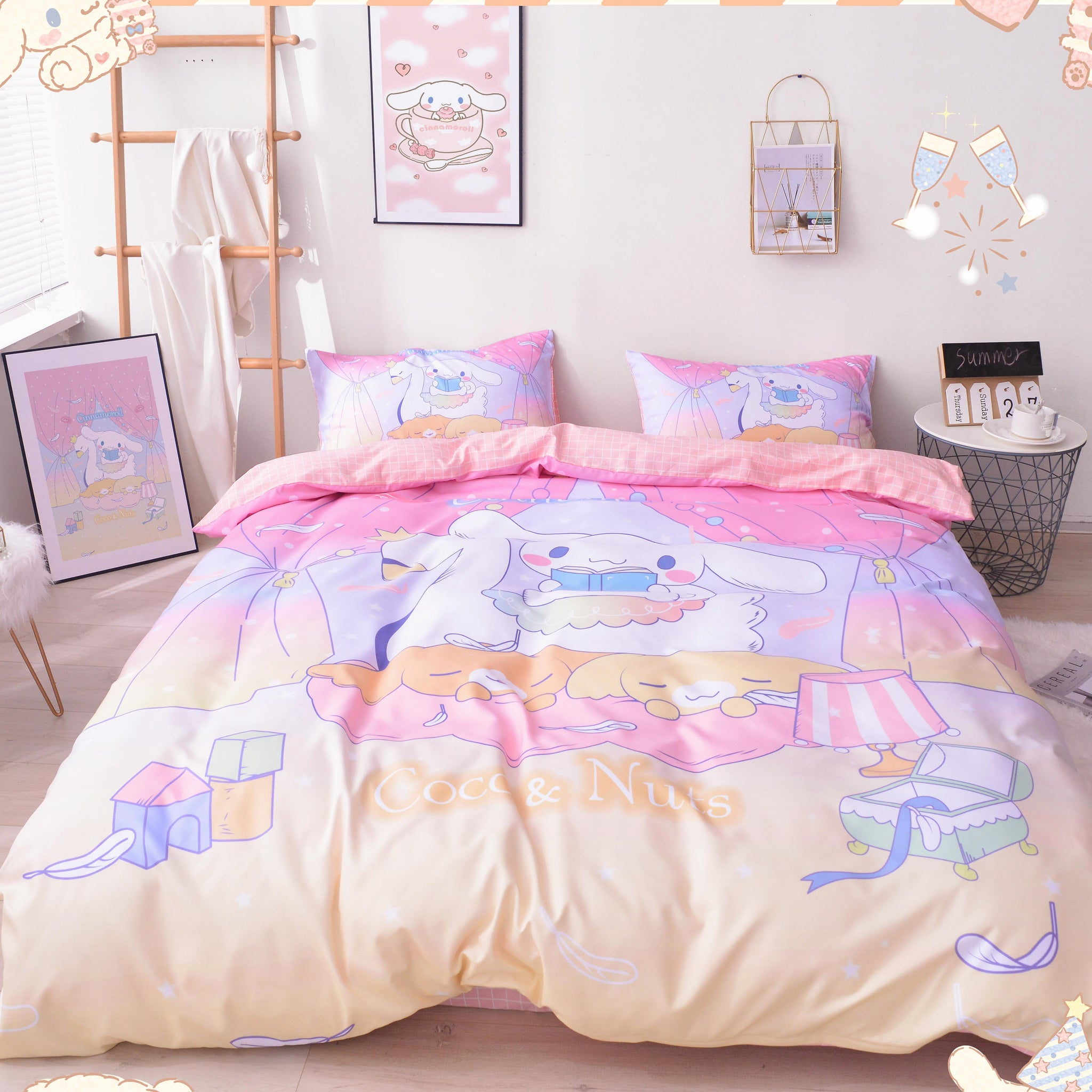 Cartoon Cinnamoroll Bedding Set PN2001
