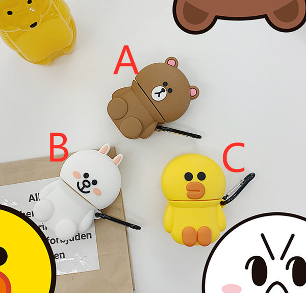 Kawaii Brown and Cony Airpods Case For Iphone PN1677
