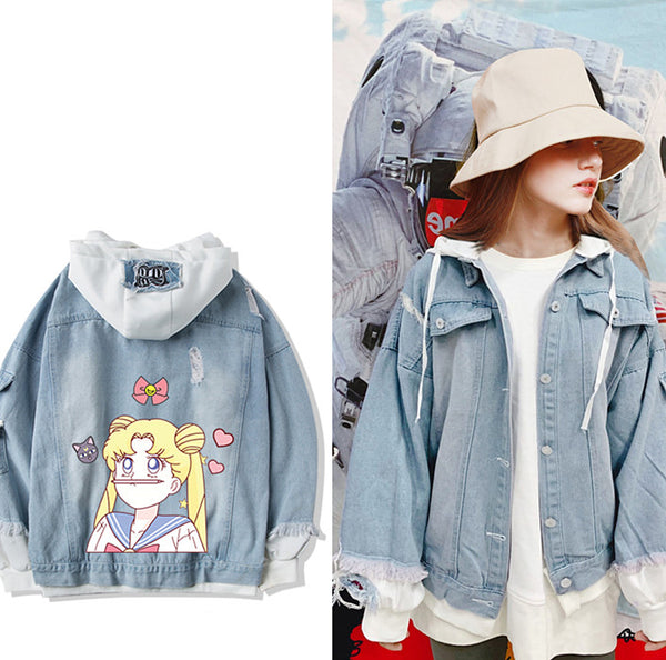 Kawaii Usagi Jeans Coat PN1816