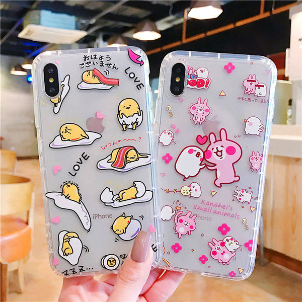 Kawaii Gudetama And Kanahei Phone Case for iphone 6/6s/6plus/7/7plus/8/8P/X/XS/XR/XS Max PN0862