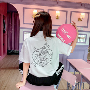 Cartoon Usagi V-neck Tshirt PN1879