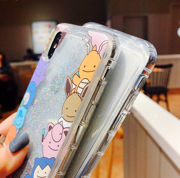 Pocket Monster Quicksand Phone Case for iphone 6/6s/6plus/7/7plus/8/8P/X/XS/XR/XS Max PN1723