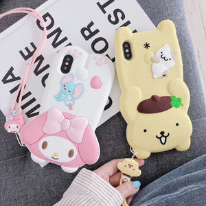 Kawaii Cartoon Hellokitty Phone Case for iphone 6/6s/6plus/7/7plus/8/8P/X/XS/XR/XS Max PN1250