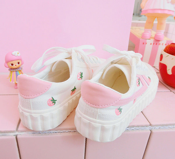 Kawaii Strawberry Canvas Shoes PN1199